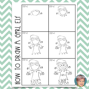 Christmas Free How to Draw a Girl Elf