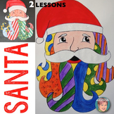 Christmas Activities: Pop Art Santa Claus Art Project for