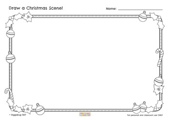 Christmas Art Frames and Tracing sheets (for Guided Drawing or stand alone)