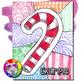 Christmas Art Project, Candy Cane Zen Doodle