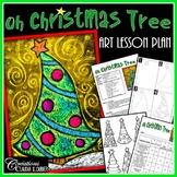 Christmas Art Lesson Plan : Oh Christmas Tree !