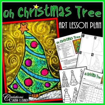 Christmas Art Lesson Plan : Oh Christmas Tree !