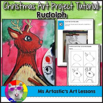 Christmas Art Project, Rudolph