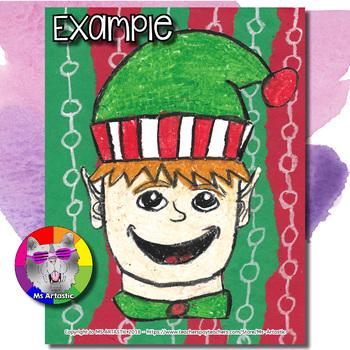 Christmas Art Project, Santa's Elf