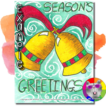 Christmas Art Project, Season's Greeting, Holiday Bells