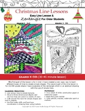 Christmas Art Lessons Drawing Lines, Doodle, and Zentangle Elementary 45-Minute