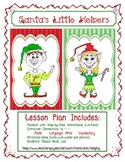 Language Arts Expository Writing with Christmas Art Project – Draw Santa's Elf