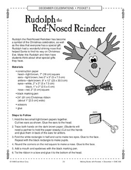 Christmas Art Projects: Rudolph, 3-D Tree, Candy Canes