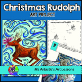 Christmas Art Project, Rudolph