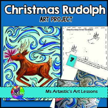 christmas art project rudolph by ms artastic teachers pay teachers christmas art project rudolph