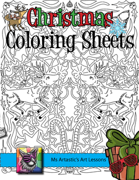 Christmas Task Cards, Sketchbook Prompts, Bookmarks and Coloring Pages!