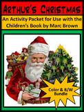 Christmas Activities: Arthur's Christmas ELA Activity Packet Bundle - Color&BW