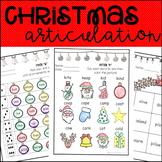 Christmas Articulation Activities ALL SOUNDS