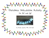 Christmas Articulation Activity for /k/ and /g/