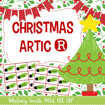 Christmas Articulation Cards for /r/ for Speech Therapy