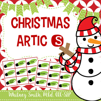 Christmas Articulation Cards for /s/ for Speech Therapy
