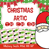 Christmas Articulation Cards for /th/, /ch/, & /sh/ for Speech Therapy