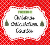 Christmas Articulation Counter Freebie!