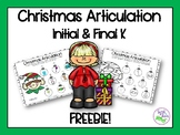 Christmas Articulation Freebie: Smash Mats & Coloring Shee
