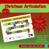 Christmas Articulation Game Boards: R, L, S, TH, SH, CH