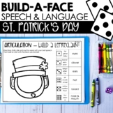 St. Patrick's Day Build A Face For Articulation & Language