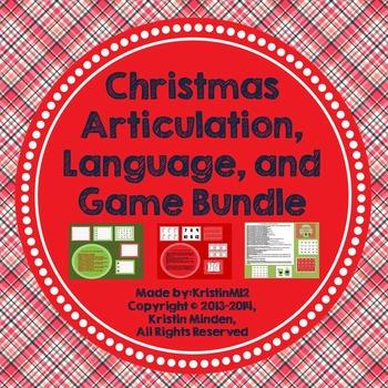 Christmas Articulation, Language, and Game Bundle