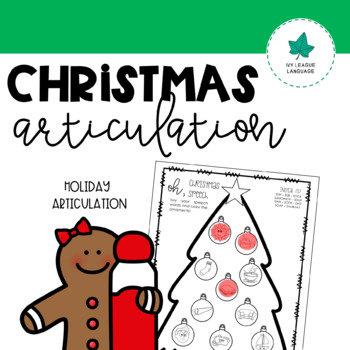 Christmas Articulation: Later Developing Sounds - Oh, Christmas Speech