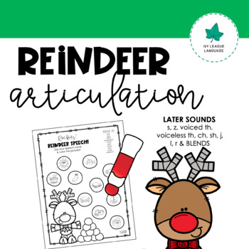 Christmas Articulation - Later Developing Sounds: Rockin' Reindeer Speech