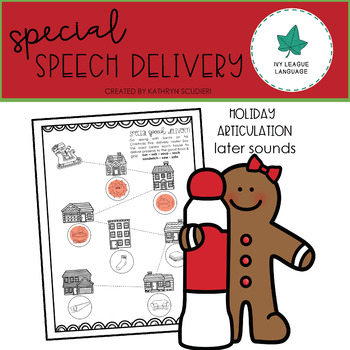Christmas Articulation: Later Developing Sounds - Special Speech Delivery