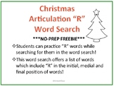 Christmas Articulation R Word Search