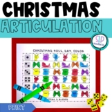 Christmas NO PREP Articulation Roll Say Color - Sound Practice Speech Therapy