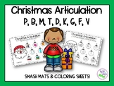 Christmas Articulation: Smash Mats & Coloring Sheets for E
