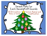 Christmas Articulation Smash Mats for beginning sounds