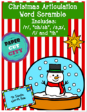 """Christmas Articulation Word Scramble /r/, """"ch/sh"""", /s,z/, /l/ and """"th"""""""