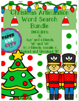 Christmas Articulation Word Search Bundle