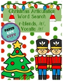 Christmas Articulation Word Search /r/, r-blends, vocalic /r/