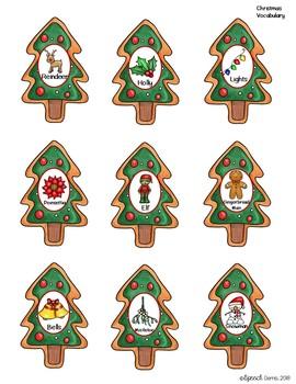 Christmas Articulation and Language Santa Activity.