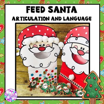 Christmas Articulation and Language Santa Activity