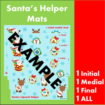 Christmas Articultion D ALL Positions!  Santa's Speech Therapy Helper-LOW PREP