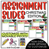 Christmas Assignment Slides