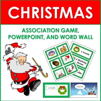 Christmas Association Game, Word Wall, and PowerPoint Presentation