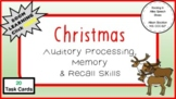 Christmas Auditory Processing Memory & Recall Skills (20 Task Cards, Board Game)