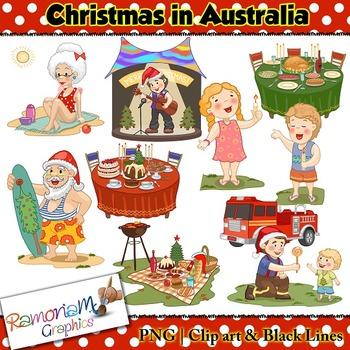 Christmas around the World Clip art Australia