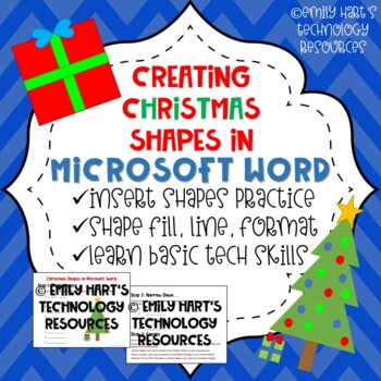 Christmas Autoshapes in Microsoft Word