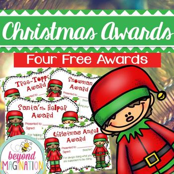 Christmas Activities Fun FREE Christmas Themed Awards