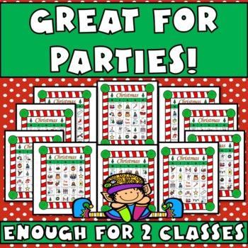 Christmas BINGO: 50 Individual Boards, Calling Cards, & Memory Game
