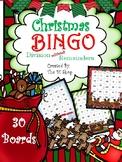 Christmas BINGO (Division w/o Remainders) {30 Boards} NO PREP
