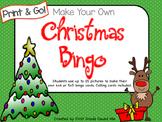 Christmas Vocabulary Bingo- Print & Go, No Prep