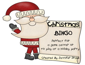 Christmas BINGO!  Perfect for Game Center or Holiday Party!