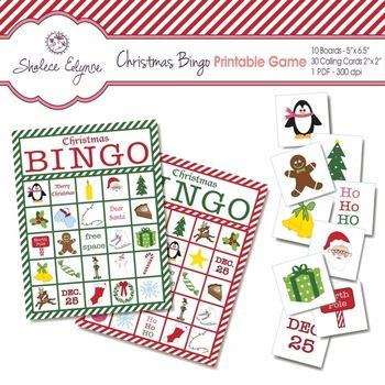 Christmas BINGO Printable Game